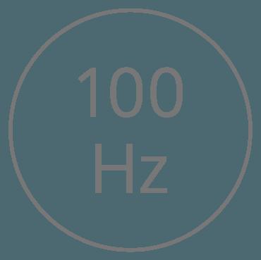 Stufe 1 — 100 Schwingungen pro Sekunde (Hertz)